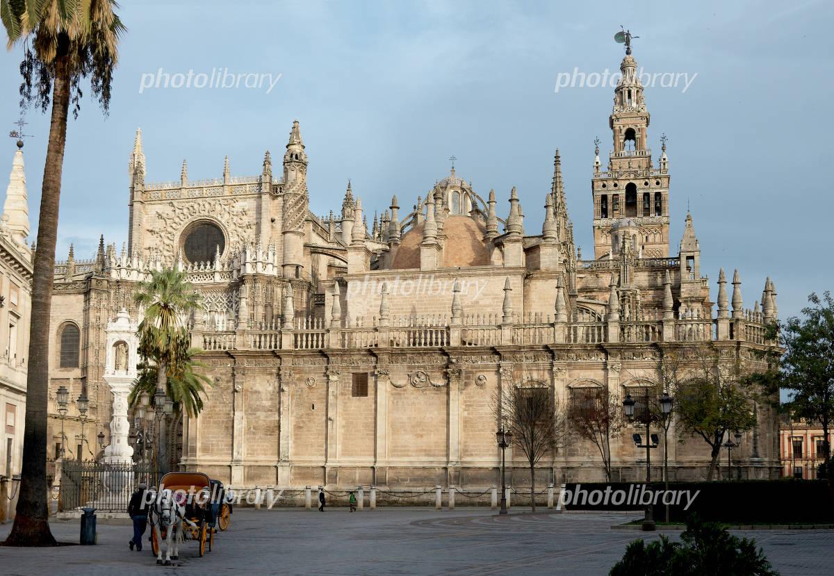 スペイン 世界遺産セビリア大聖堂-写真素材  スペイン 世界遺産セビリア大聖堂 画像ID 127