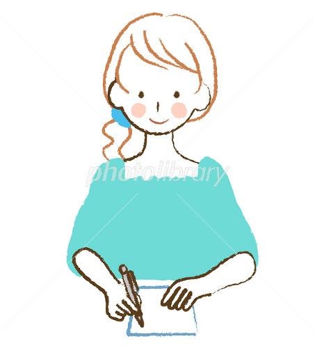 書く女性-写真素材 書く女性 画像ID 1810054  書く女性