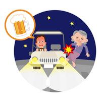 飲酒運転 交通事故の写真素材