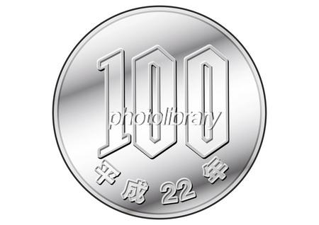 100円玉-写真素材