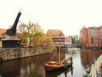 Crane and streets of Germany Luneburg Stock photo [691411] Luneburg
