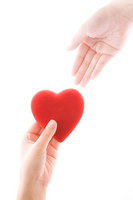 Hand and hand out issued a Heart Stock photo [698418] Hart