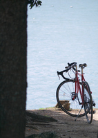 Bicycle on the banks of the pond Stock photo [772572] Bike