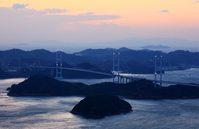 Kurushima Strait Bridge from turtle Laoshan prospect park Stock photo [776235] Turtle