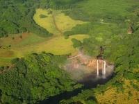 Waterfall of Hawaii Kauai, Wailua Stock photo [777156] America