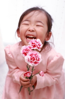 Children with carnation with a smile Stock photo [779257] Smile