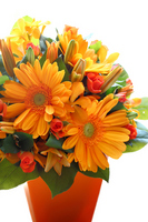 Flower arrangement that uses a Gerbera orange Stock photo [781309] Arrange