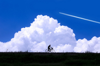 Summer sky and bicycle Stock photo [860896] Blue