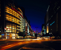 Hakata - night of Tenjin Stock photo [861433] Commercial