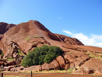 Entrance Australia of the world heritage of mountain trails of Ayers Rock Stock photo [868370] Ayers