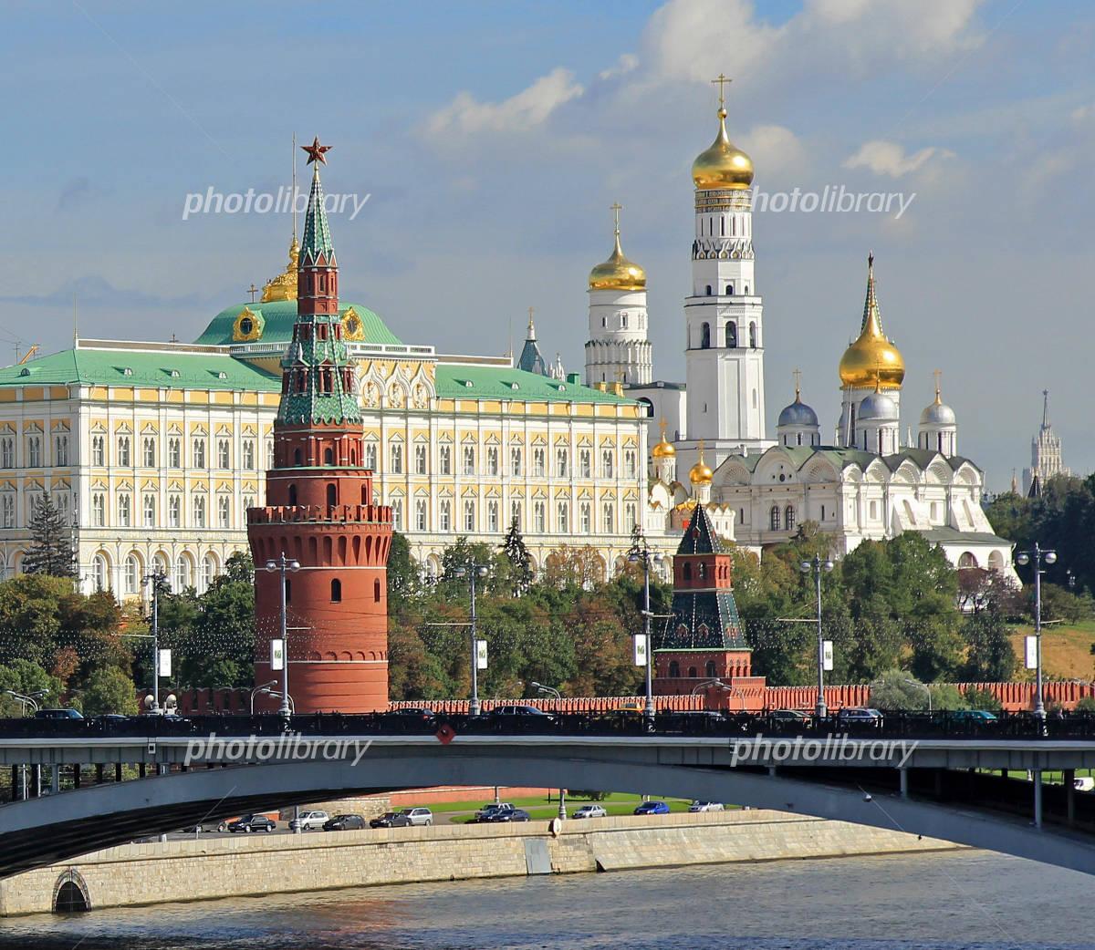 モスクワ川と大クレムリン宮殿 写真素材 [ 940269 ] - フォトライブ ...