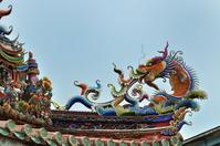 大龍峒保安宮の龍の屋根飾り