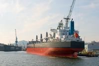 Tanker in shipbuilding of Kobe Port Stock photo [943904] Tanker