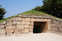 Gyeongju Historic ruins district half-moon castle of stone ice warehouse Stock photo [1043944] Korea