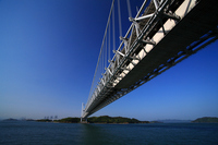 Shikoku Bridge Honshu of blue sky Stock photo [1046302] Okayama