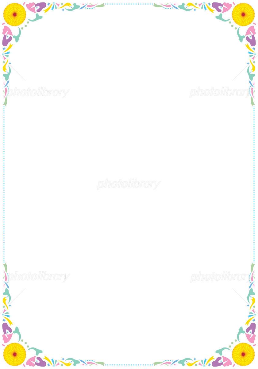 花の飾り罫 イラスト素材 [ 1149349 ] - フォトライブラリー photolibrary
