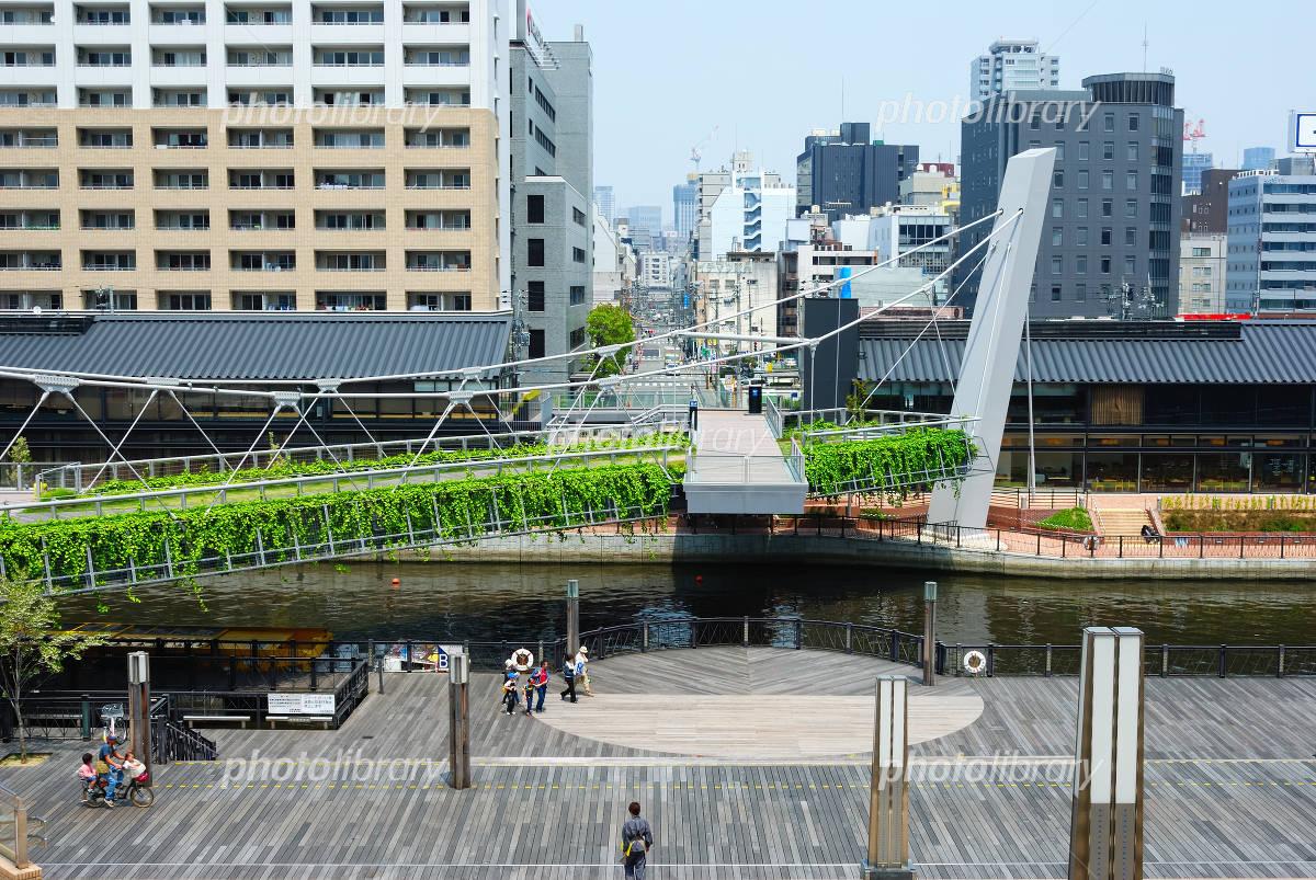 浮庭橋と街並み 写真素材 [ 1159...