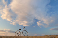 White bicycles and sky Stock photo [1151043] Bike