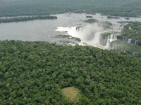 Were taken from the sky Iguazu Falls Devil's Throat Stock photo [1153604] Over
