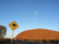 Ayers Rock and the labeling Stock photo [1154240] Australia