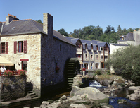 Landscape Pont-Aven with waterwheel Stock photo [1154557] Pont-Aven