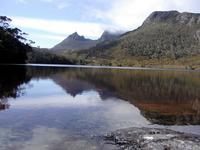 Cradle Mountain you reflected on the surface of a lake Tasmania Stock photo [1155047] Tasmania