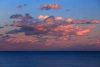 Dusk fiery sunset clouds of sea Stock photo [1157043] Sea