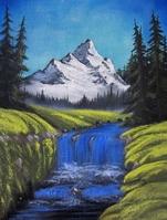 Snow Mountain Stock photo [1158698] Oil