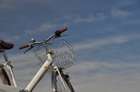 Blue sky and white bicycle Stock photo [1159750] Bike
