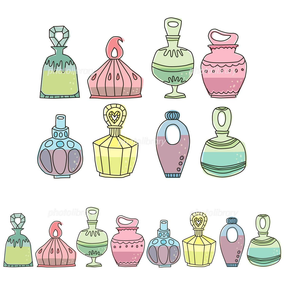 香水瓶飾り罫 イラスト素材 1251857 フォトライブラリー