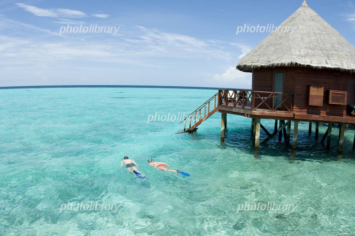 Snorkeling from water cottage Photo