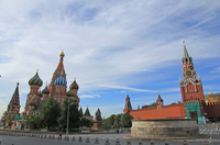 Red Square Vasily temple and Supasukaya tower Stock photo [1250365] Russia