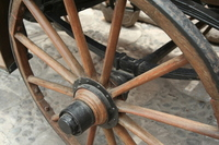 (Peru) the wheels of Arequipa of horse-drawn carriage Stock photo [1252220] Carriage