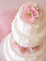Wedding Cake Pink Flower Stock photo [1252500] Wedding
