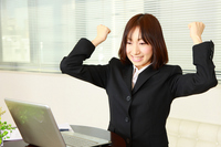 Business Woman to rejoice Stock photo [1255731] Female