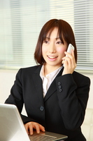 Business Woman of the phone smartphone Stock photo [1257405] Work