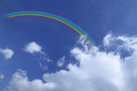 Rainbow and clouds and a blue sky Stock photo [1262229] Rainbow