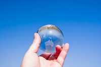 Earth of blue sky and glass Stock photo [1263339] Blue
