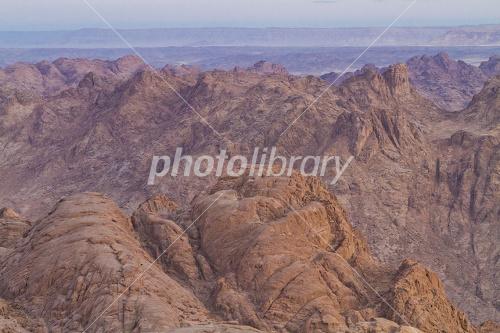 エジプト シナイ山 山頂から ...