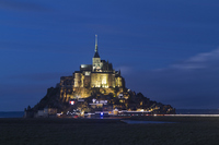 Mont St. Michel of night view Stock photo [1431314] France