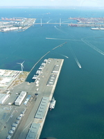 <Aerial> Port of Yokohama Stock photo [1440322] Port