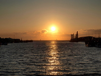 Sunset of Kushiro Port Stock photo [1441616] Kushiro