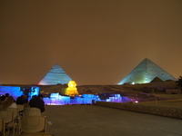 The light up is pyramid Stock photo [1443545] Egypt