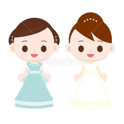 ドレスを着た女の子 イラスト素材 [ 1533553 ] , フォトライブ