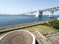 瀬戸大橋記念公園から見た瀬戸大橋 の写真素材
