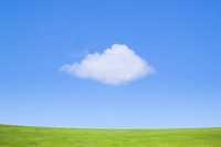 Blue sky and gaping cloud Stock photo [1533592] Blue