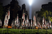 Terrorist victims memorial light up Stock photo [1535536] Manhattan