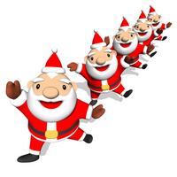 Santa dancing [1536162] Santa
