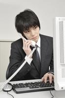 Desk work Stock photo [1538999] Man