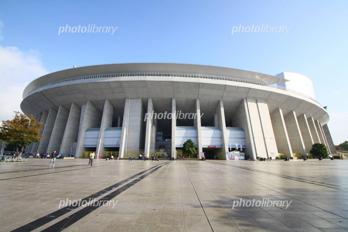Blue sky long stadium Photo